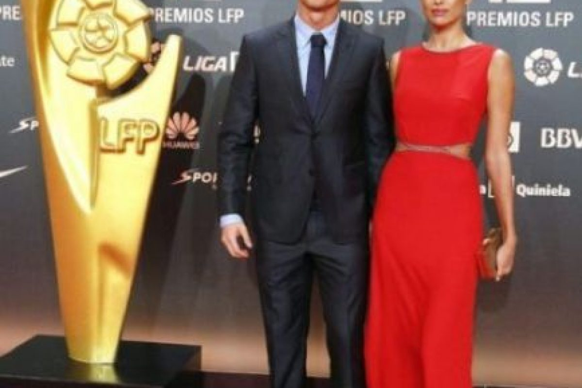 La última aparición pública de la pareja fue en los Premios de la Liga el 27 de octubre. Ronaldo obtuvo los galardones por mejor gol, mejor jugador y mejor delatero de la temporada 2013-14. Foto:Twitter. Imagen Por: