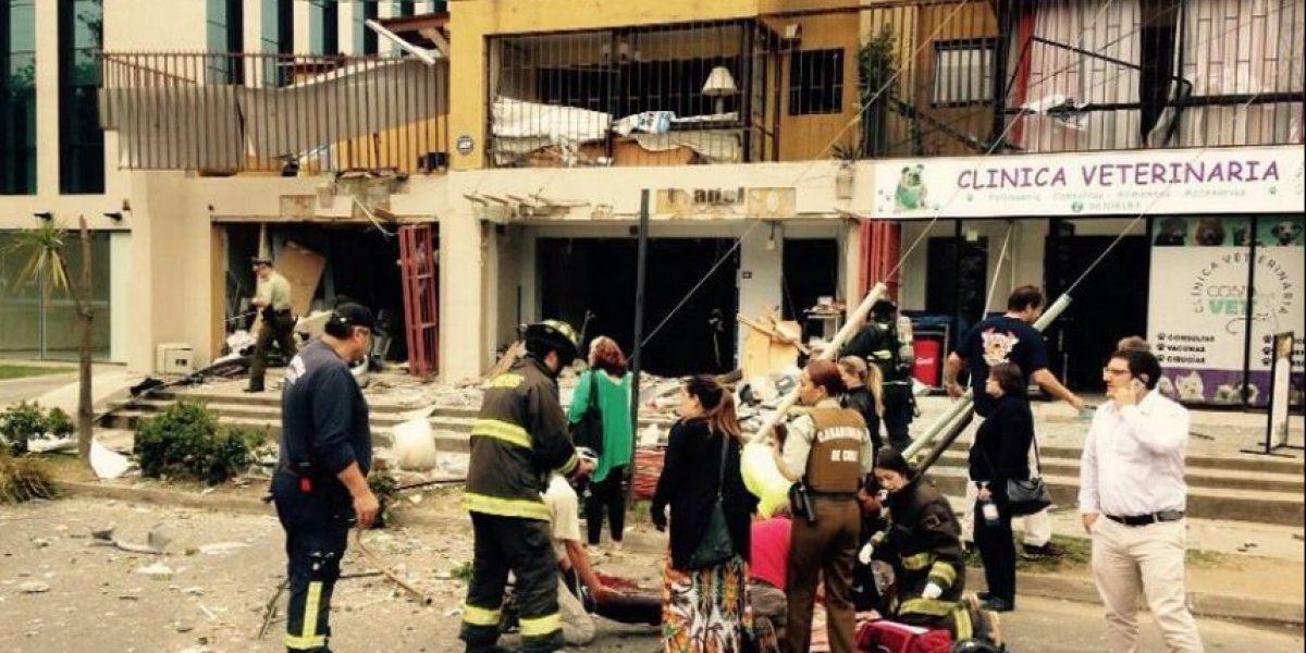 Explosión por acumulación de gas en edificio comercial deja a 3 heridos en Reñaca