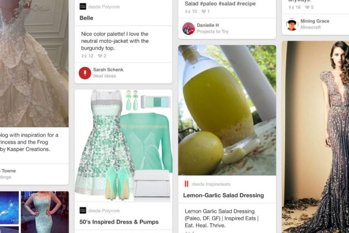 A. Vestidos bonitos, cosas bonitas y mucha comida. Todo genial. B. Imágenes interesantes de arte, cultura o moda. Foto:Pinterest. Imagen Por: