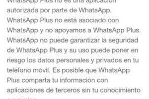La explicación de WhatsApp al bloqueo. Foto:Twitter. Imagen Por: