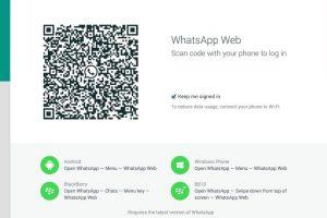 El código que deben escanear desde Chrome. Foto:WhatsApp. Imagen Por: