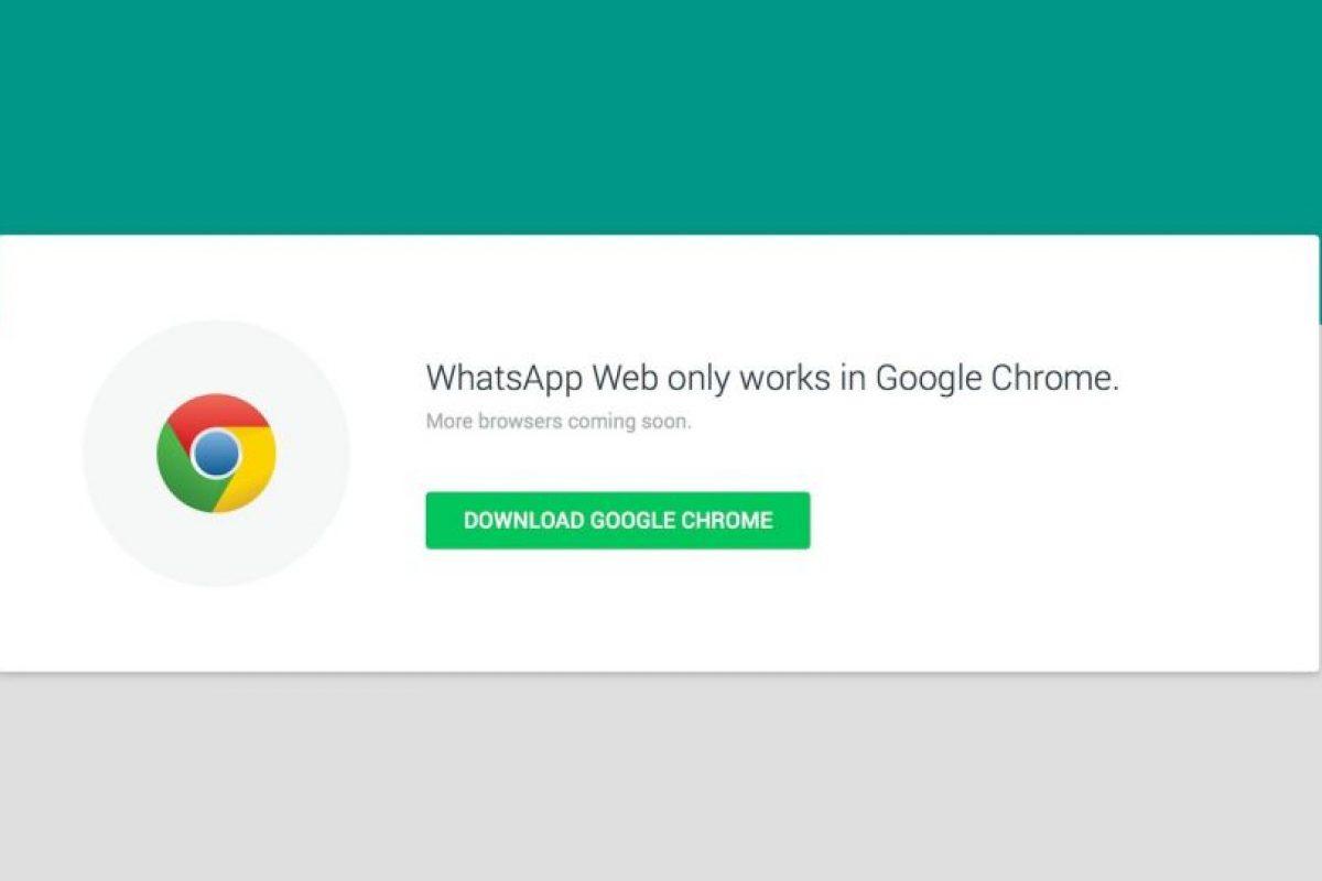 Si no ingresan al sitio web desde Chrome, les pedirá que descarguen el navegador. Foto:WhatsApp. Imagen Por: