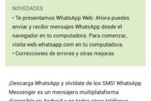 Esta actualización permite utilizar Whatsapp Web. Foto:WhatsApp. Imagen Por: