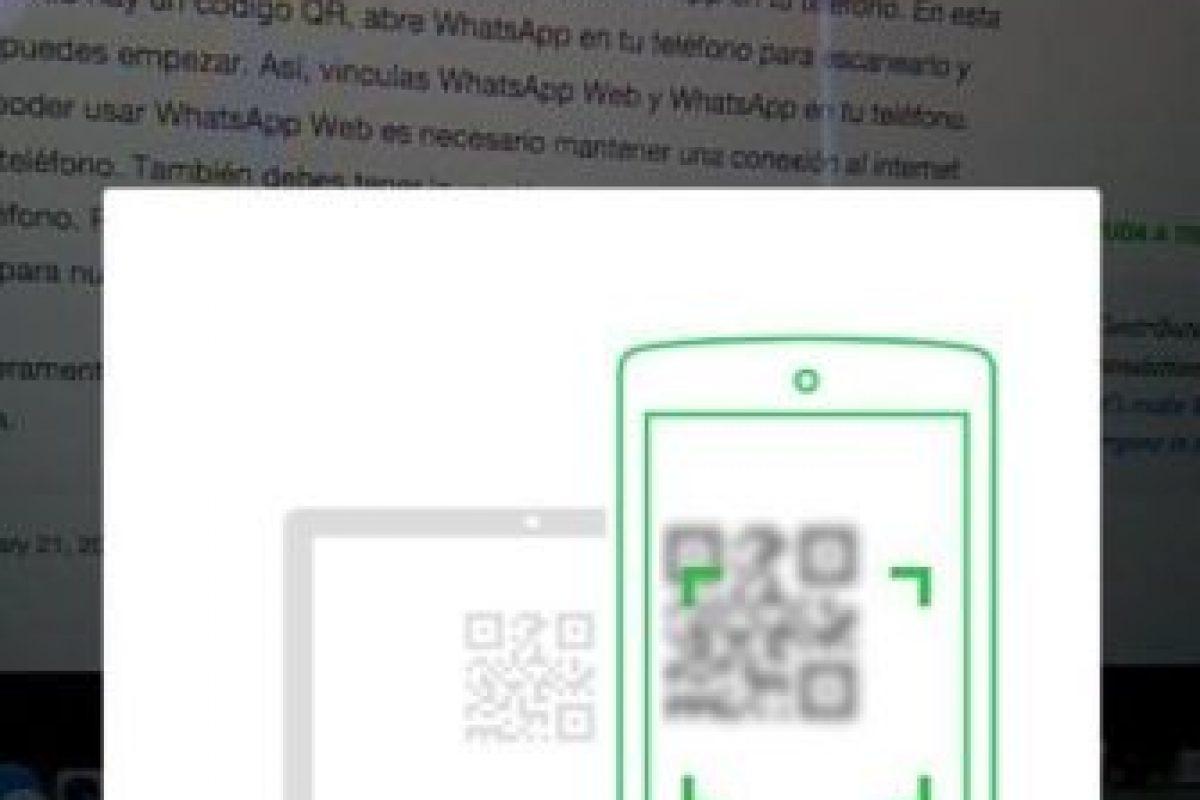 Les dirá información importante para leer el código QR. Foto:WhatsApp. Imagen Por: