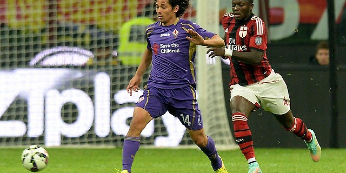 Mati Fernández participó en éxito de la Fiore en la Copa Italia