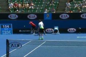 Feliciano López sacó a gran velocidad Foto:Youtube: Australian Open TV. Imagen Por: