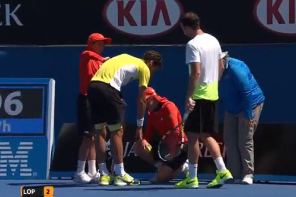 Ambos tenistas lo asistieron Foto:Youtube: Australian Open TV. Imagen Por: