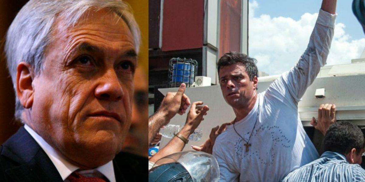 Piñera visitará en la cárcel al líder opositor venezolano Leopoldo López
