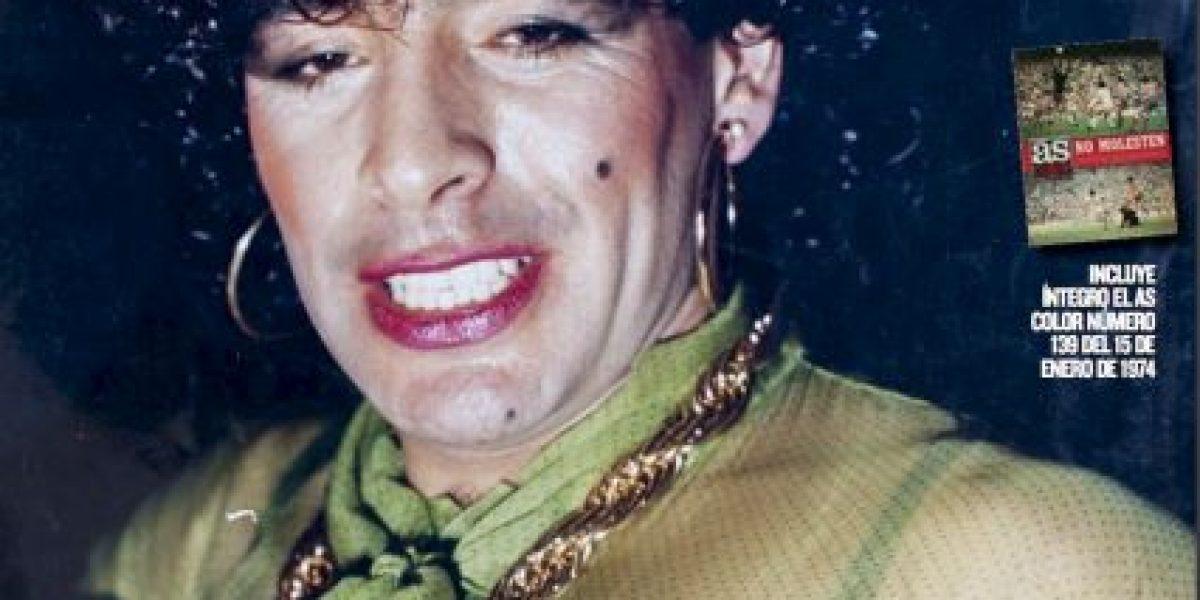 Maradona vestido de mujer fotos