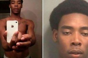 Este jóven estadounidense robó un iPhone y se autorretrató con él. Foto:Twitter. Imagen Por: