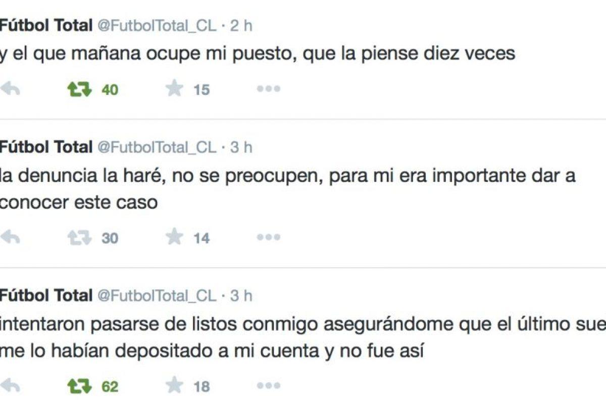 Advirtió a su reemplazo lo que le va a pasar. Foto:Twitter/FútbolTotal Chile. Imagen Por: