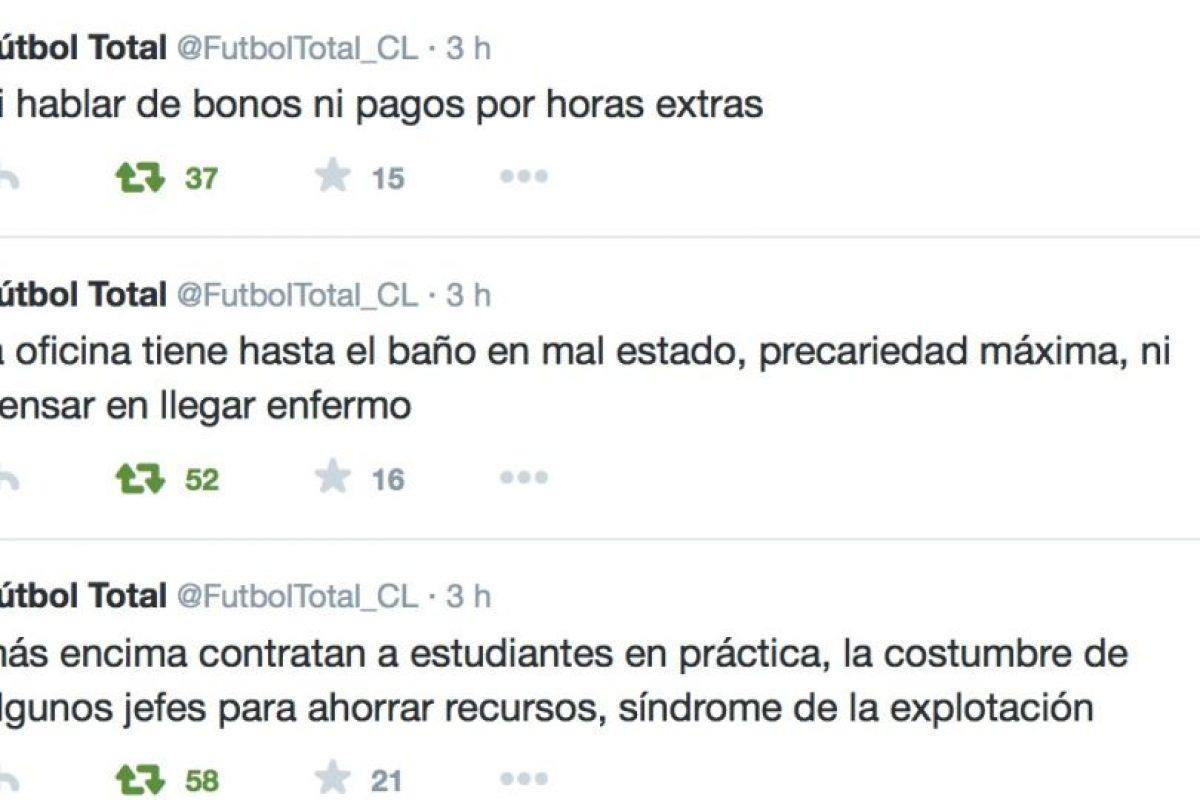 También la forma en cómo lo explotan. Foto:Twitter/FútbolTotal Chile. Imagen Por: