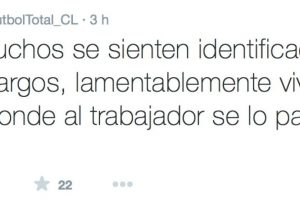 """El """"community mánager"""" del medio """"Fútbol Total"""" de Chile, comenzó a denunciar, repentinamente, todo lo que le ocurría en su empresa. Foto:Twitter/FútbolTotal Chile. Imagen Por:"""