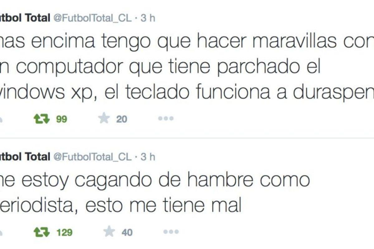 Todo comenzó con estos tweets. Foto:Twitter/FútbolTotal Chile. Imagen Por: