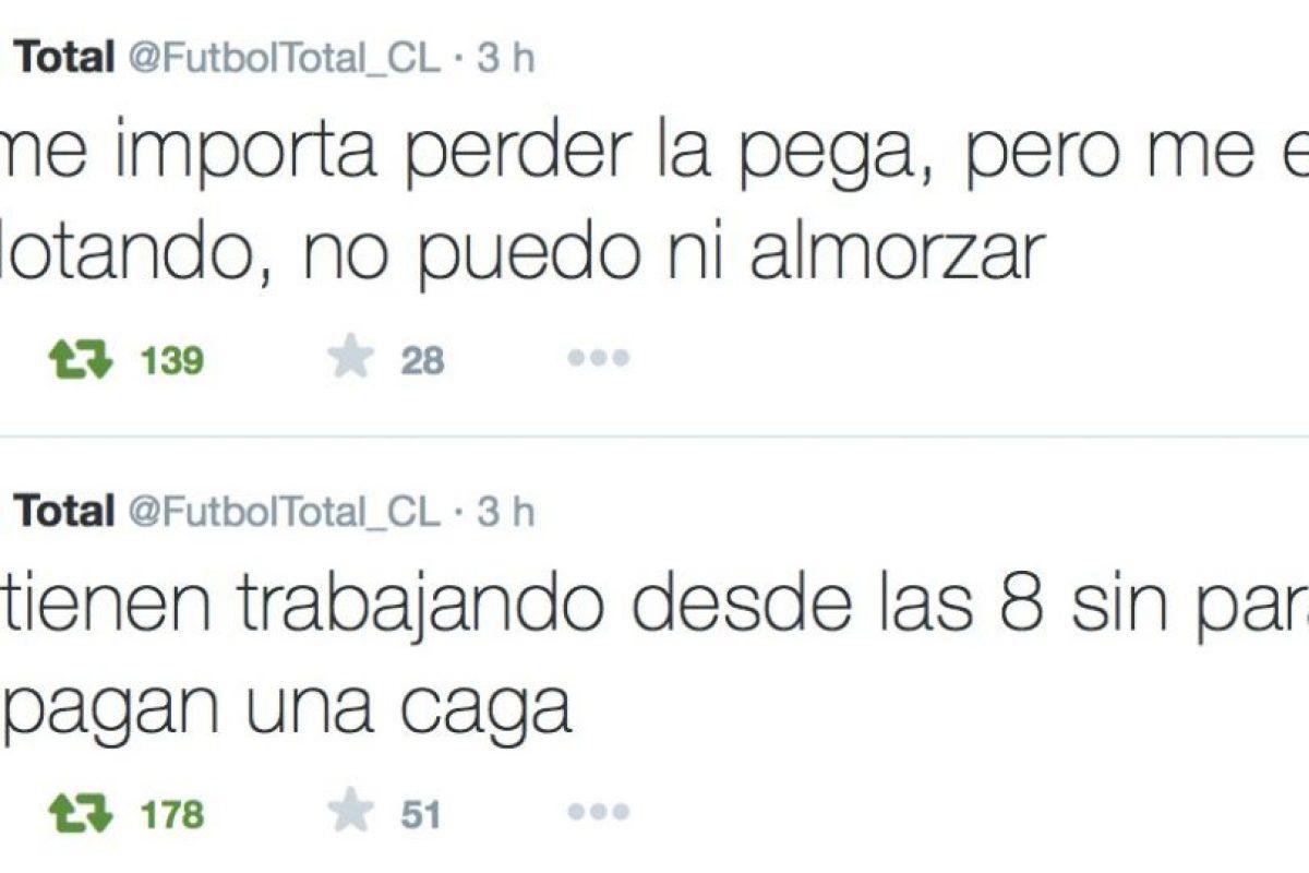 Dice que no puede ni comer y que le pagan muy mal. A veces, ni le pagan. Foto:Twitter/FútbolTotal Chile. Imagen Por: