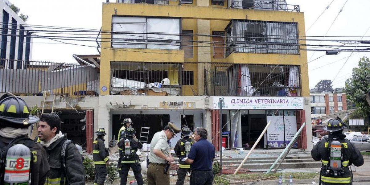 Llave de paso provocó explosión en edificio de Reñaca