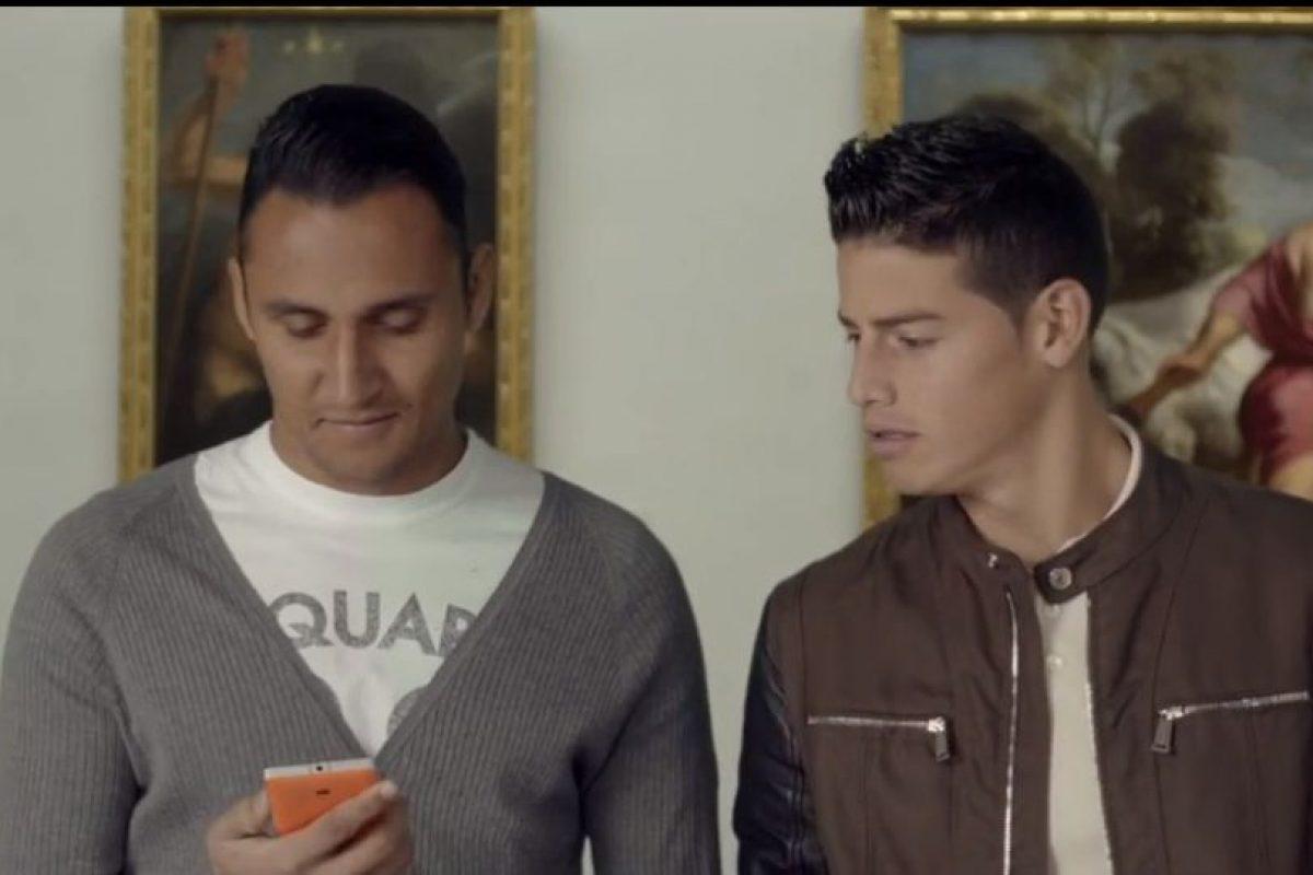 Keylor Navas y James Rodríguez estaban en un museo. Foto:TURISMOMADRID. Imagen Por: