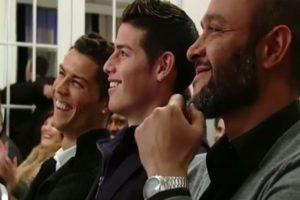 Cristiano Ronaldo y James Rodríguez disfrutaron del evento. Foto:YouTube. Imagen Por: