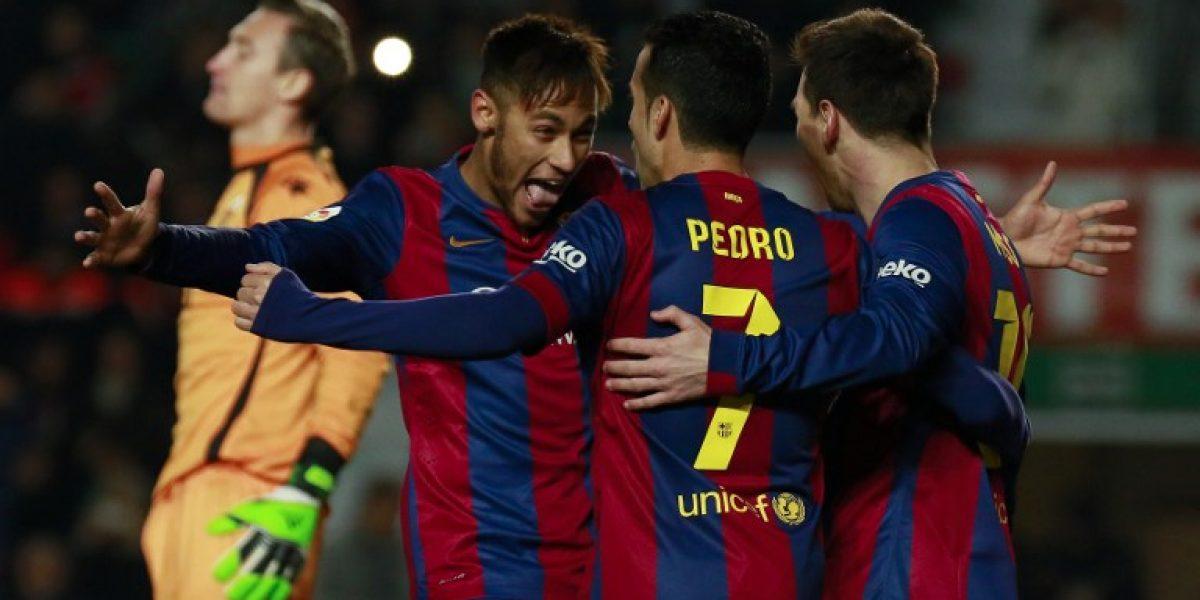 Sufrió Roco: Barcelona no tuvo piedad y goleó al Elche
