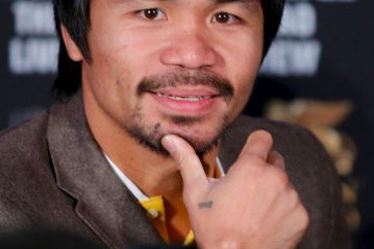 """El boxeador filipino fue nombrado """"Boxeador de la década"""" por el CMB y ha obtenido ocho títulos mundiales en la misma cantidad de categorías. Foto:Getty Images. Imagen Por:"""