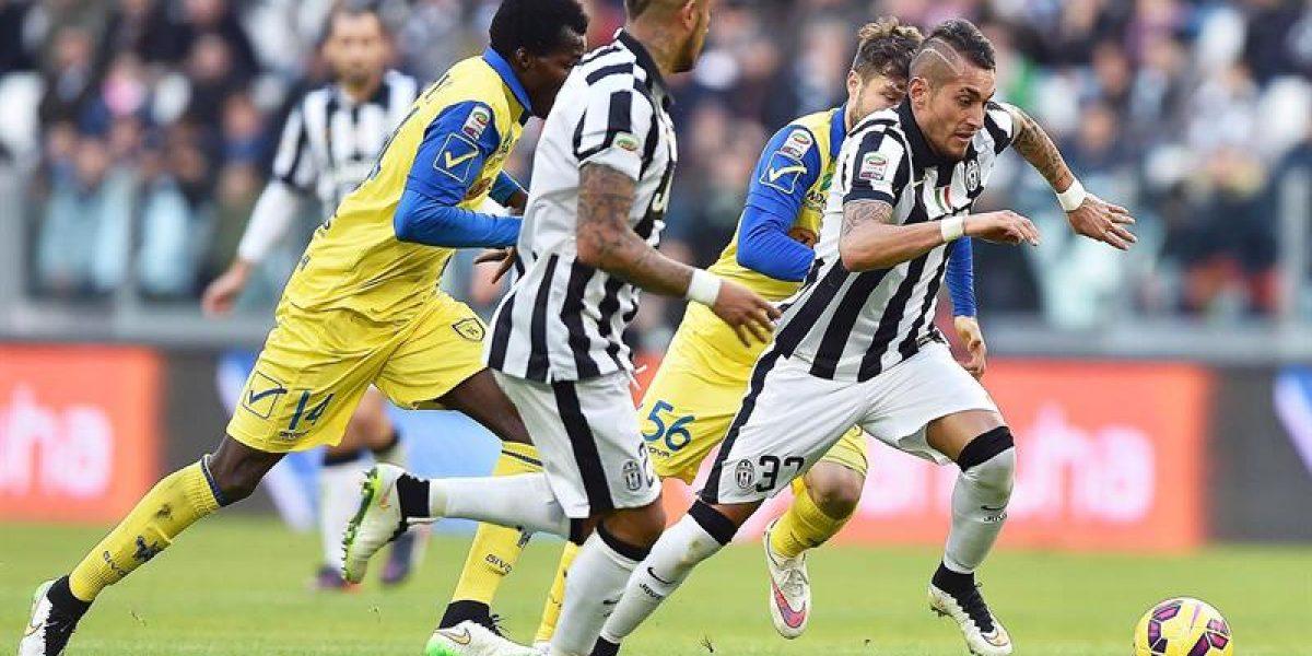 Juventus con Vidal venció al Chievo y sigue firme al frente de la Serie A