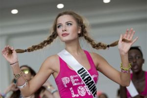 Diana Harkusha, Miss Ucrania Foto:AP. Imagen Por: