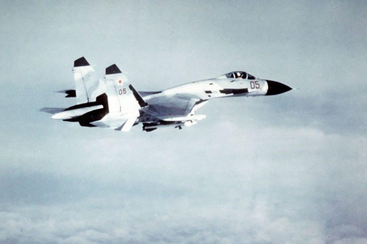 Sukhoi Su-27SK Flanker. Velocidad máxima de Mach 2,35 (2.878,9 km/h) Foto:Wikimedia. Imagen Por: