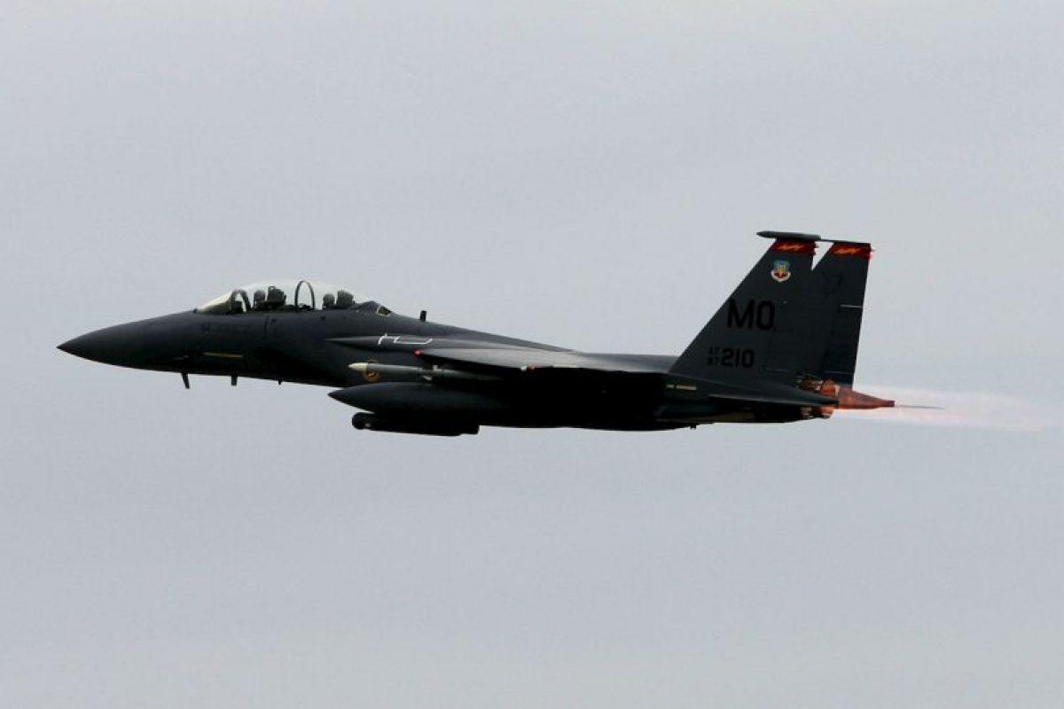 3. F-15E Strike Eagle. Velocidad máxima de Mach 2,5 (3.062,6 km/h) Foto:Wikimedia. Imagen Por: