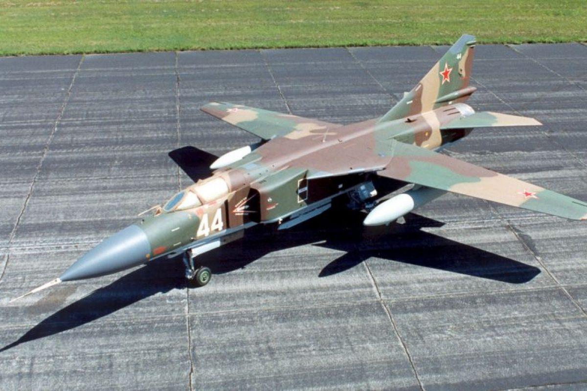 6. MiG-23 Flogger. Velocidad máxima de Mach 2,35 (2.878,9 km/h) Foto:Wikimedia. Imagen Por: