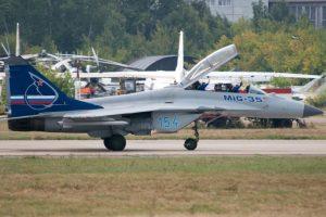 8. MiG-35 Fulcrum-F. Velocidad máxima de Mach 2,25 (2.756,3 km/h) Foto:Wikimedia. Imagen Por: