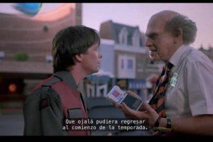 """""""Volver al futuro"""" (1989) Foto:YouTube. Imagen Por:"""