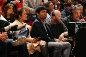 Manny aprovechó su estancia en Estados Unidos para asistir al partido. Foto:AFP. Imagen Por:
