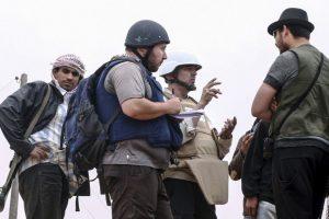 Igualmente Steven Sotloff, quien se convirtió en una de las primeras víctimas cuyos videos fueron divulgados. Foto:Getty. Imagen Por: