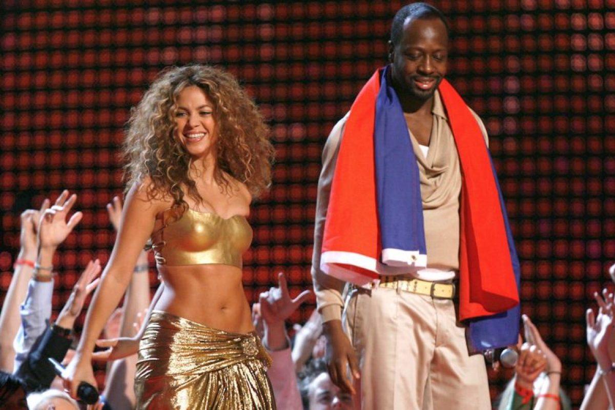 "Shakira y Wyclef Jean ""Hips Don't Lie"" Foto:Getty Images. Imagen Por:"