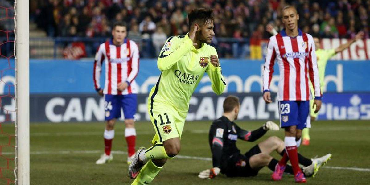 Con un inspirado Neymar, Barcelona eliminó al Atlético de la Copa en un caliente partido