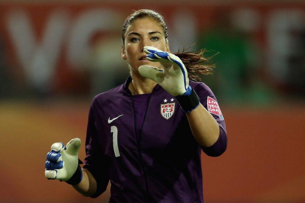 Hope Solo – Estados Unidos. Medalla de oro en Beijing 2008 y Londres 2012 con la Selección Femenina de Fútbol. Foto:Getty Images. Imagen Por: