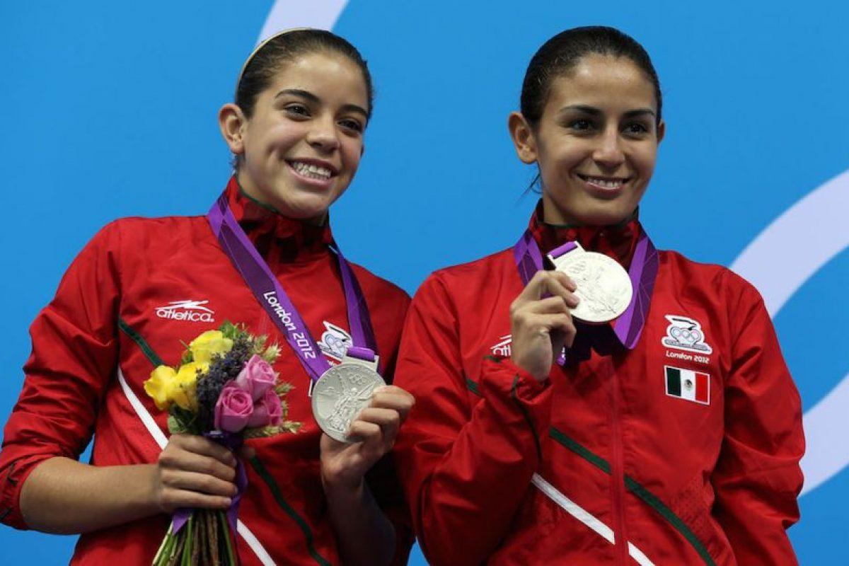 Paola Espinosa (derecha) – México. Medalla de plata en Beijing 2008 y de bronce en Londres 2012 en clavados sincronizados desde la plataforma de 10 metros. Foto:Getty Images. Imagen Por: