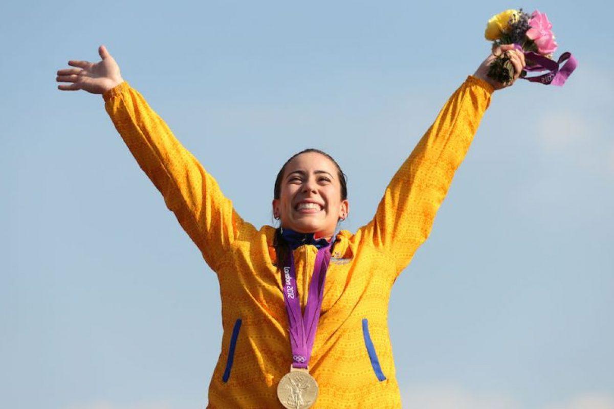 Mariana Pajón – Colombia. Medalla de oro ciclismo femenino BMX en Londres 2012. Foto:Getty Images. Imagen Por: