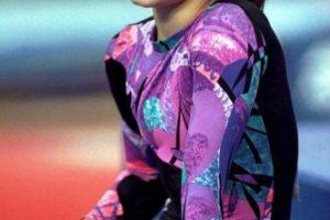 Dominique Moceanu – medalla de oro por equipos en gimnasia en Atlanta 1996. Foto:Getty Images. Imagen Por: