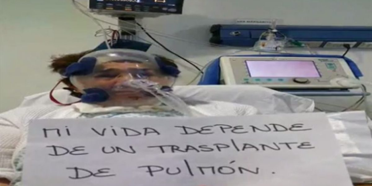 Con este video la mujer que espera un pulmón como prioridad nacional busca conseguir un donante
