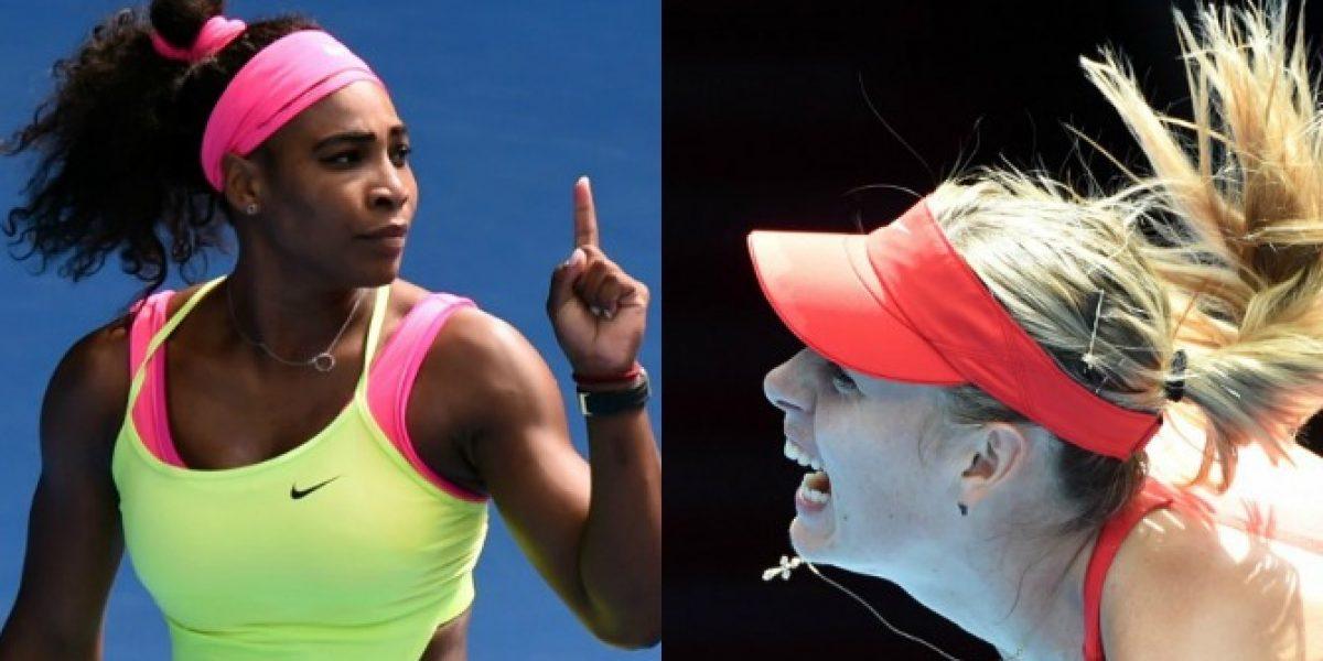 Serena Williams y Maria Sharapova se enfrentarán en la final del Abierto de Australia
