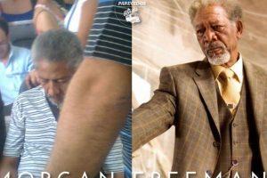 Otro Morgan Freeman Foto:Parecidos De Bondis/Facebook. Imagen Por: