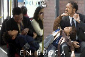 """Will y Jaden Smith en """"En Busca de la Felicidad"""" Foto:Parecidos De Bondis/Facebook. Imagen Por:"""