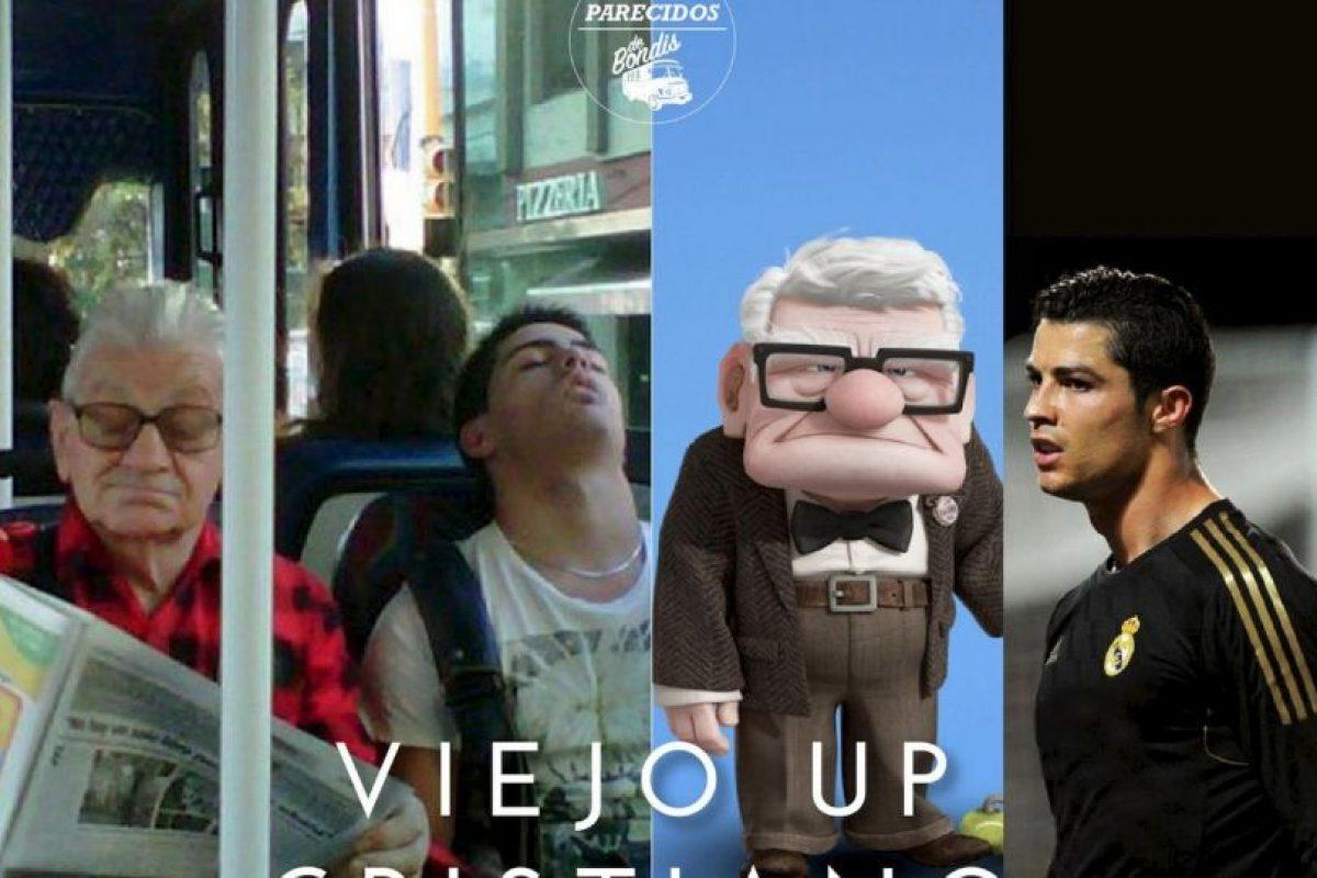 """El viejo de """"Up""""/ Cristiano Ronaldo Foto:Parecidos De Bondis/Facebook. Imagen Por:"""