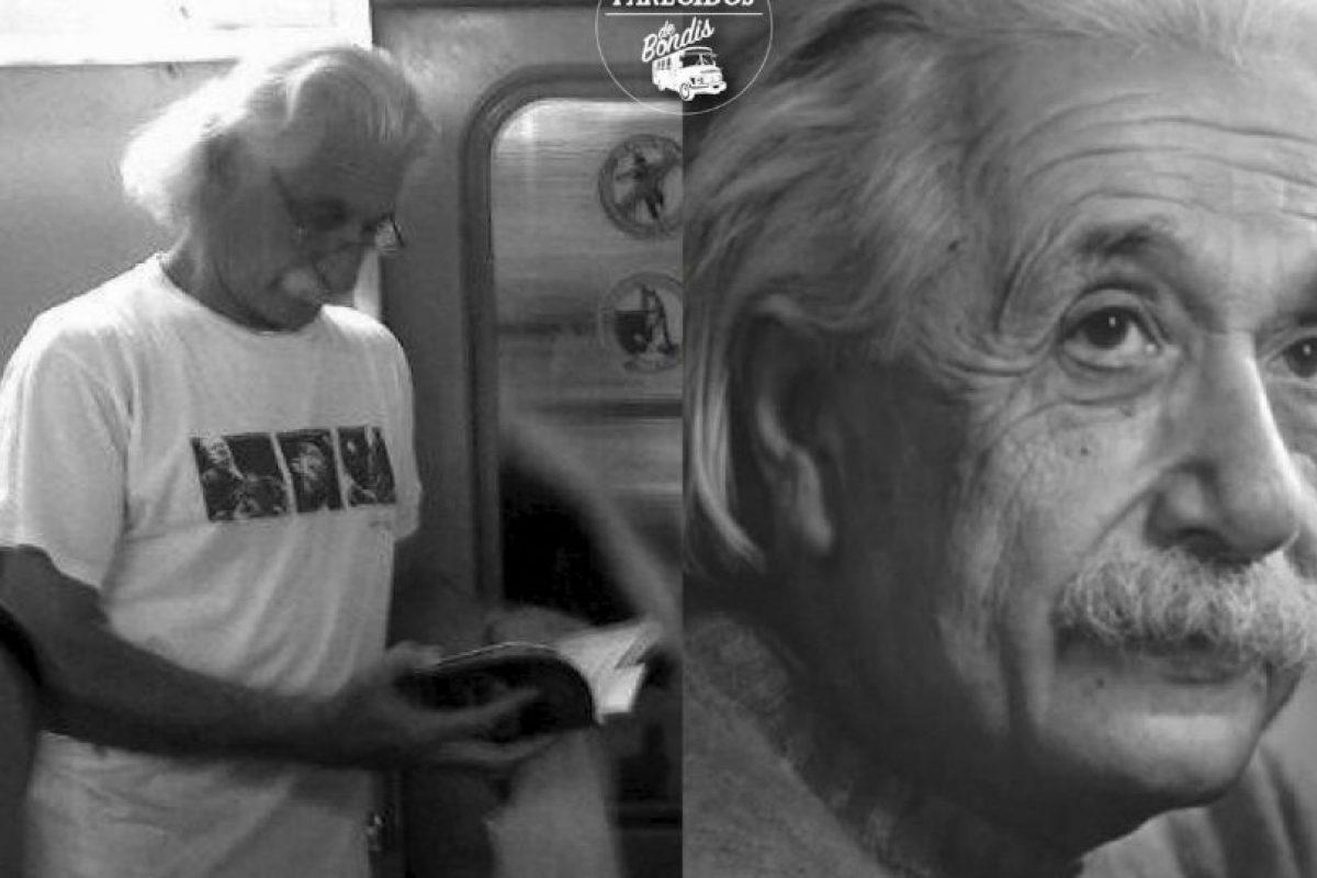 Albert Einstein Foto:Parecidos De Bondis/Facebook. Imagen Por:
