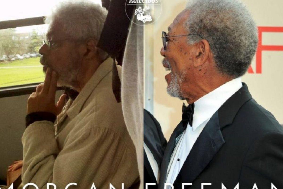 Morgan Freeman Foto:Parecidos De Bondis/Facebook. Imagen Por: