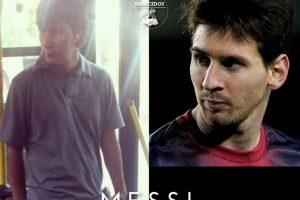 Messi, otra vez Foto:Parecidos De Bondis/Facebook. Imagen Por: