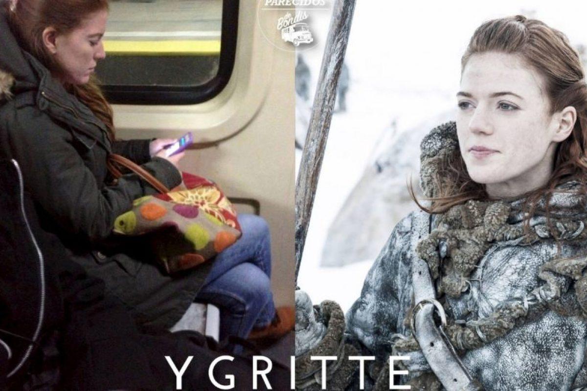 "Ygritte, de ""Game of Thrones"" Foto:Parecidos De Bondis/Facebook. Imagen Por:"