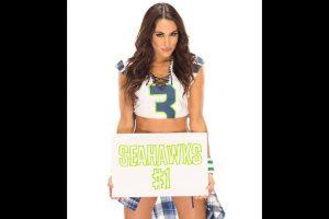 Brie Bella espera el triunfo de los Halcones Marinos de Seattle Foto:WWE. Imagen Por: