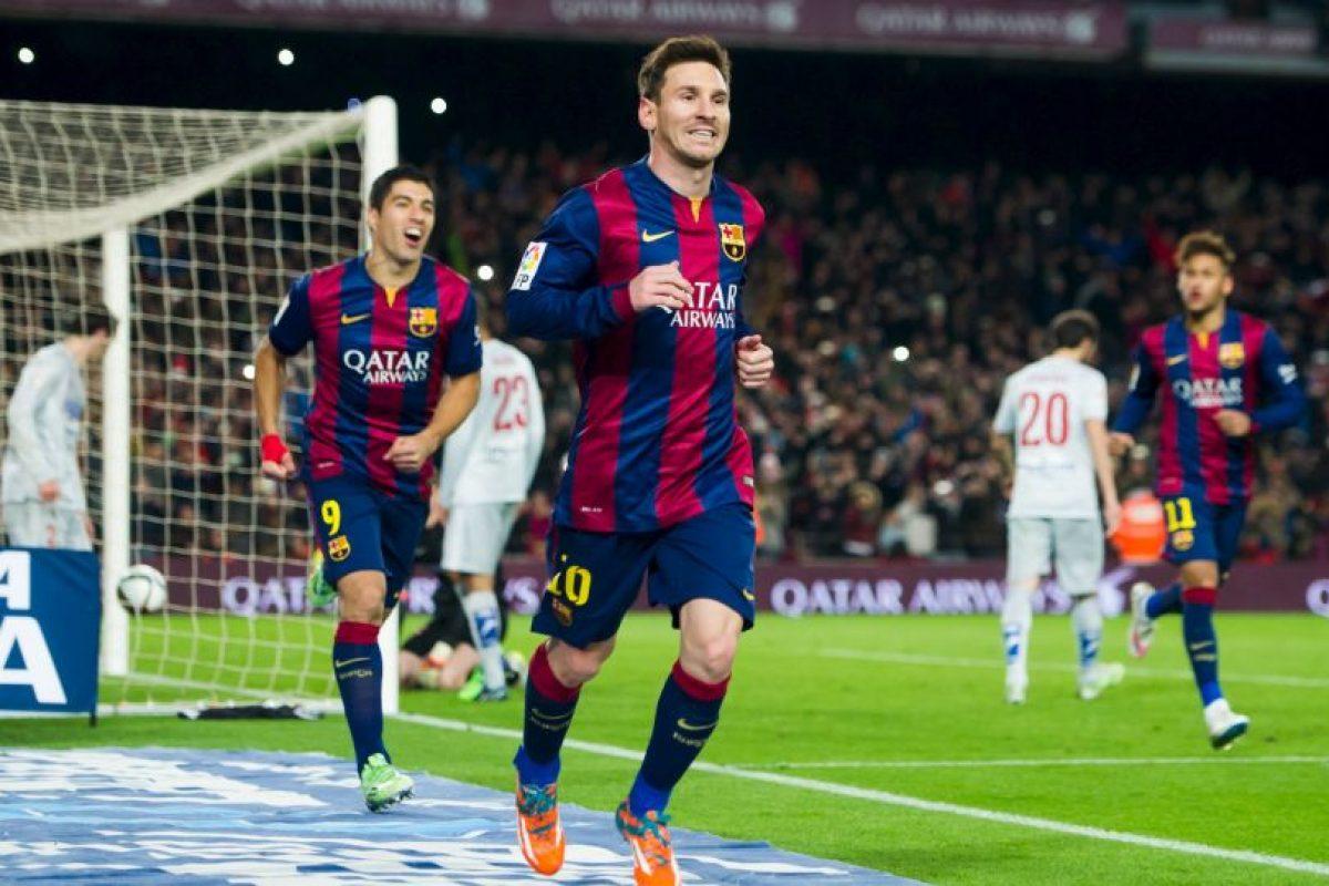 Messi y el Barça son segundos en la Liga de España, detrás del Real Madrid Foto:Getty. Imagen Por:
